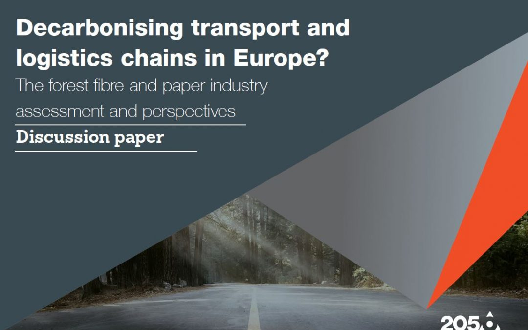New paper: European forest fibre and paper industry sets out an innovative, low-emission future for its transport and logistics