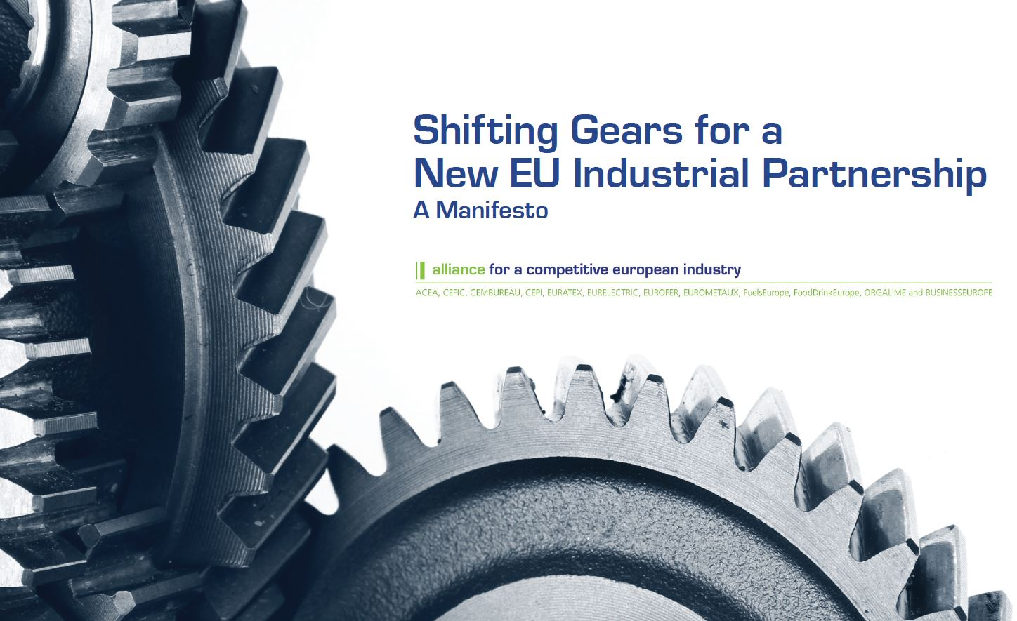 Shifting Gears for a New EU Industrial Partnership – A Manifesto