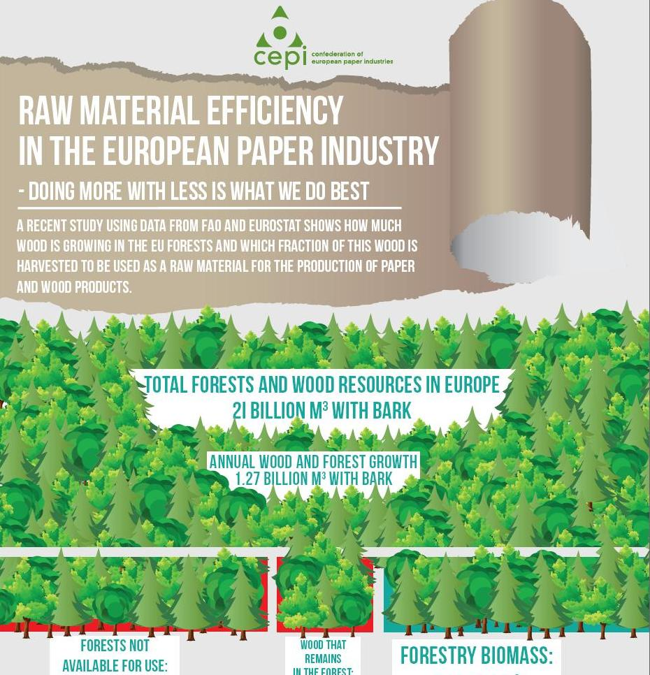 Raw material efficiency in the European Paper Industry – Doing more with less is what we do best