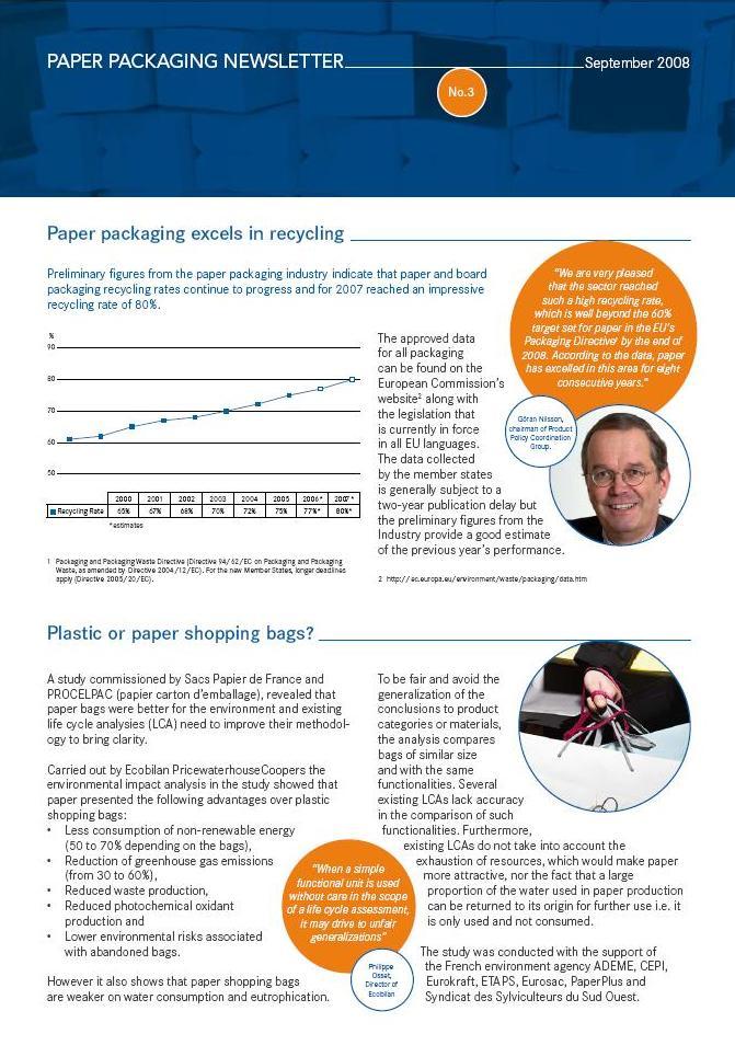 Paper Packaging newsletter 2008