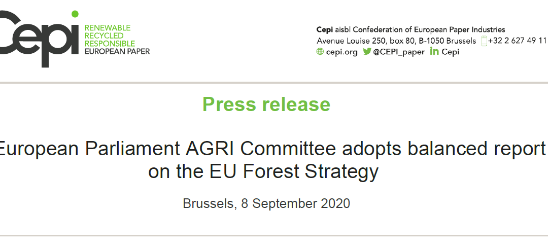 Press Release: European Parliament AGRI Committee adopts balanced report on the EU Forest Strategy
