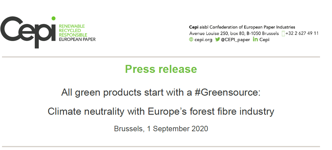 Press release: All green products start with a #Greensource
