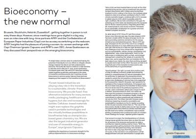 """Bioeconomy – the new normal"": Cepi Chairman Ignazio Capuano for AFRY Magazine"