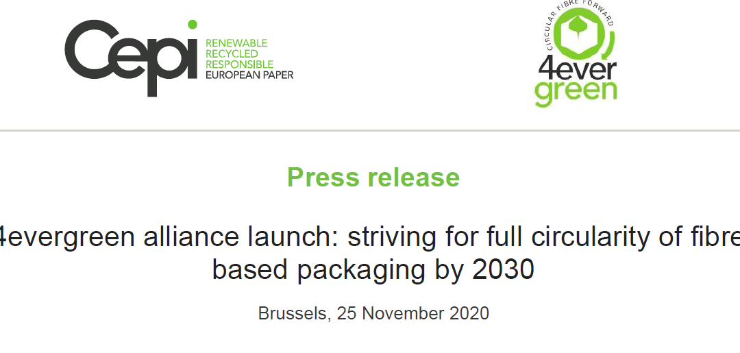 Press release – 4evergreen alliance launch: striving for full circularity of fibre-based packaging by 2030
