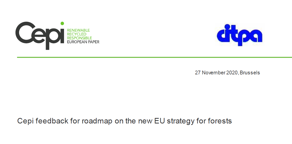 Cepi feedback for roadmap on the new EU strategy for forests
