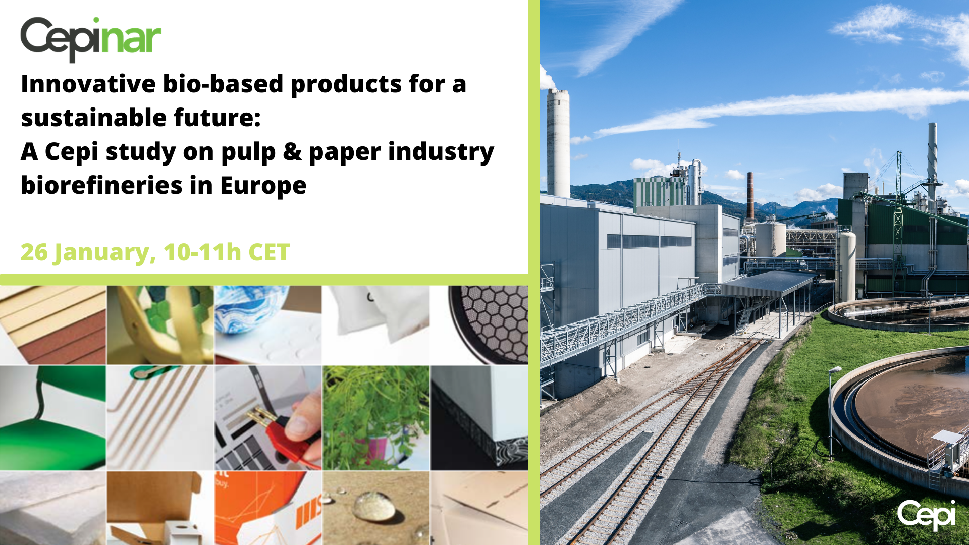 Innovative bio-based products for a sustainable future: A Cepi study on pulp & paper industry biorefineries in Europe