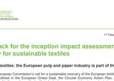 Cepi feedback for the inception impact assessment on the EU strategy for sustainable textiles