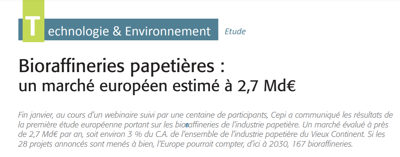"""Article published in """"La Papeterie Magazine"""" (ENP Publishing Group), N° 371, February-March 2021"""