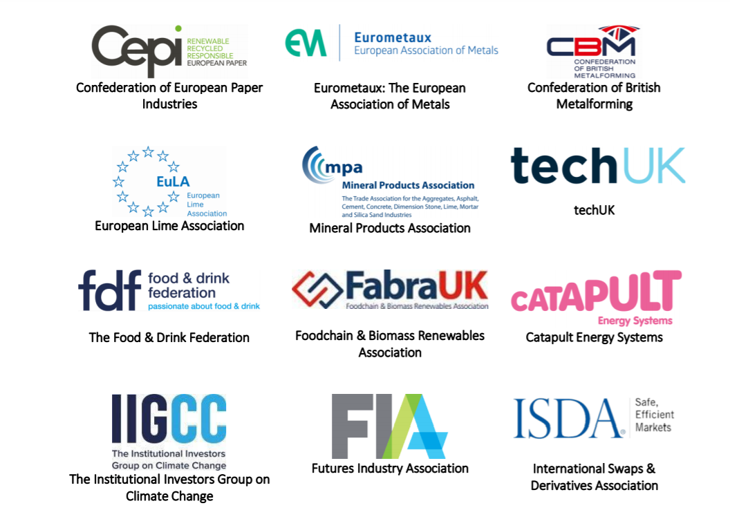 Letter calling for linking the EU Emissions Trading System (EU ETS) with the new UK Emissions Trading System (UK ETS)