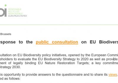 Cepi's response to the public consultation on EU Biodiversity policy initiatives