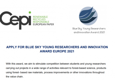 Call for application for the Blue Sky Young Researchers & Innovation Award is now open